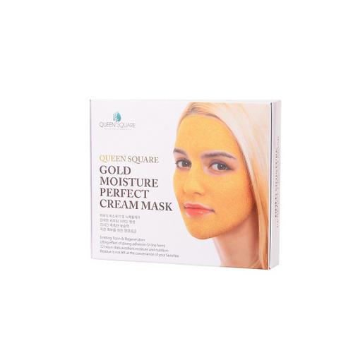 Маска для лица антивозрастная с золотом (Набор) Gold Moisture Perfect Cream Mask 50гр4 (Anskin, Для лица) косметические маски nanoderm маска кремовая для лица с наносомами 45 50мл