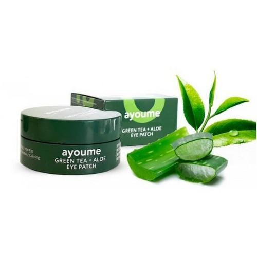 Ayoume Патчи для глаз от отечности с экстрактом зеленого чая и алоэ, 1,4 г*60 (Ayoume, Патчи для глаз)