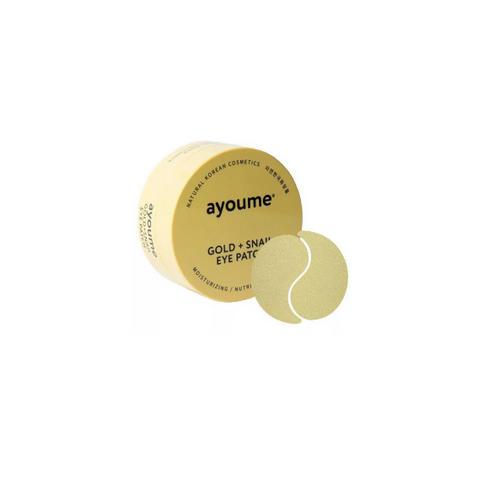 Ayoume Патчи для глаз омолаживающие с золотом и улиточным муцином 1,4гр*60 шт (Ayoume, Патчи для глаз)