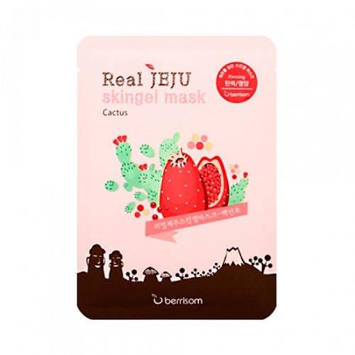Маска для лица Кактус Real Jeju Skingel Mask 01 Cactus 5P (Firming) 25 г (Berrisom, Skingel Mask) осветляющая маска для лица с желе berrisom water bomb jelly mask whitening 33 мл berrisom jelly mask