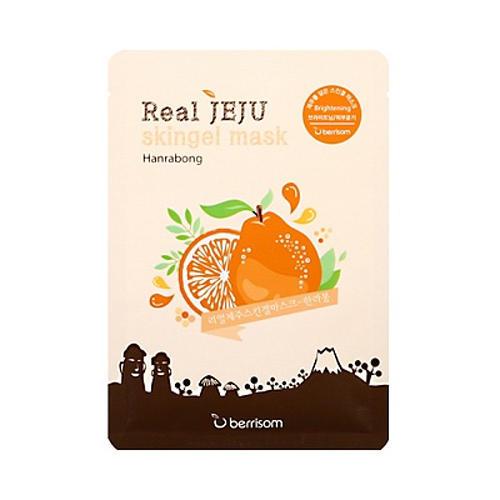 Маска для лица мандарин Real Jeju Skingel Mask 02 Hanrabong (Brightening) 25 г (Berrisom)