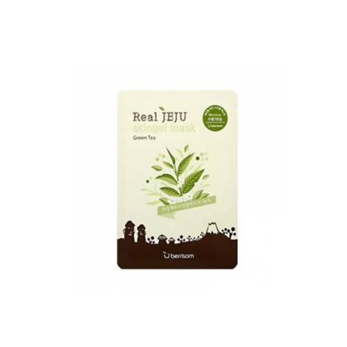 Маска для лица зеленый чай Real Jeju Skingel Mask 03 Greentee (Moisture) 25 г (Berrisom, Skingel Mask)