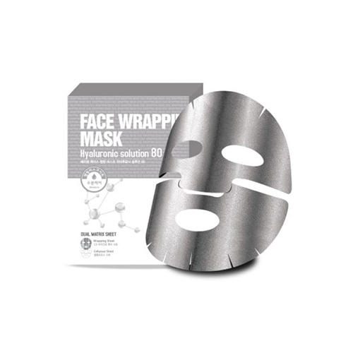 Маска для лица с гиалуроновой кислотой Face Wrapping Mask Hyaruronic Solution 80 27 г (Berrisom, Wrapping Mask) orthodontic reverse pull fact mask dental headgear orthodontic face mask adjustable face mask