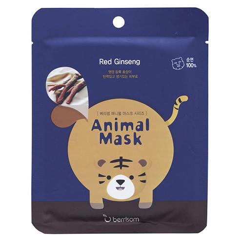 Тканевая маска с экстрактом женьшеня Animal mask series -Tiger 25 мл (Berrisom)