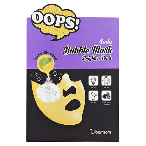 Berrisom Маска-пилинг для сияния кожи Soda Bubble Mask Brighten Fruit 18 мл (Bubble Mask)