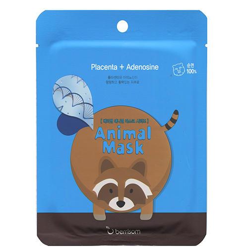 Тканевая маска с экстрактом плаценты Animal mask series Raccoon 25 мл (Berrisom, Animal mask)