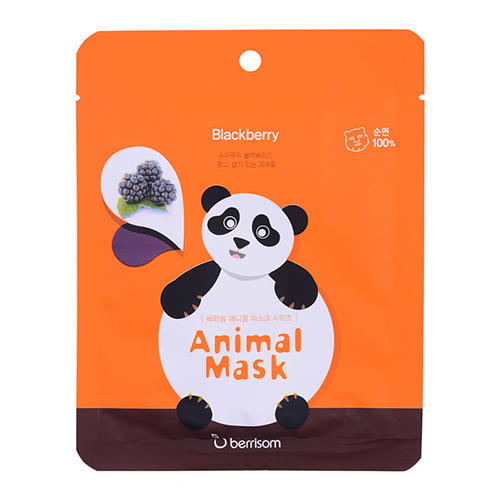 Тканевая маска с экстрактом ежевики Animal mask series Panda 25 мл (Berrisom, Animal mask) berrisom g9 3d volume gum mask