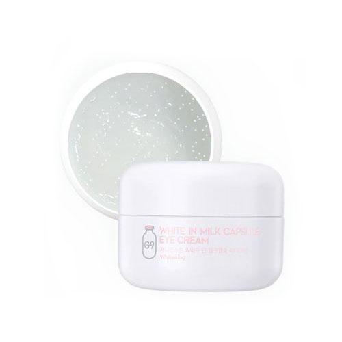 Осветляющий крем для глаз с молочными протеинами G9 White In Milk Capsule Eye Cream 30 г (White In)