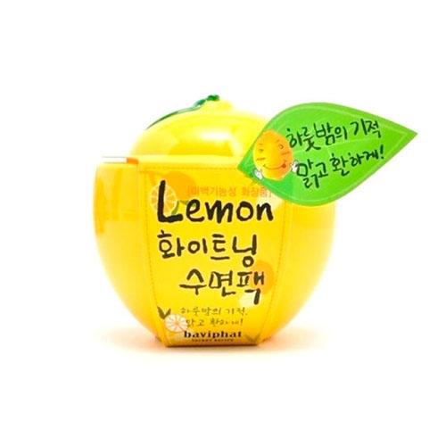 Отбеливающая ночная маска с лимоном Baviphat Lemon Whitening Sleeping Pack 100 г (Lemon)