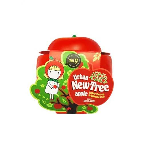 Осветляющая маска для лица Urban Dollkiss New Tree Apple Instant Toneup Brightening Pack 100 г (Baviphat, New Tree) маска baviphat urban dollkiss new tree strawberry all in one pore pack 100 г