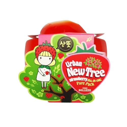 Маска для лица от расширенных пор Urban Dollkiss New Tree Strawberry AllInOne Pore Pack 100 г (Baviphat, New Tree) выравнивающий вв крем baviphat urban dollkiss pore blur bb