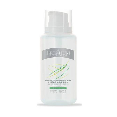 Крем массажный для лица и шеи Суперскольжение с гиалуроновой кислотой 200мл (Premium, Professional) beauty style массажный крем для лица шеи и декольте с гиалуроновой кислотой massage cream 150 мл