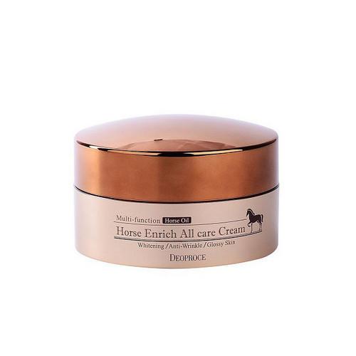 Крем для лица питательный с лошадиным жиром 100 г (Deoproce, CREAM) deoproce moisture silk volume honey cream крем для лица питательный на основе меда 100 г
