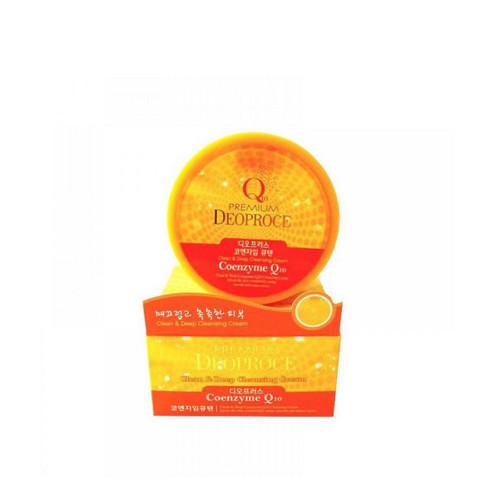 Крем для лица очищающий с коэнзимом Q10 300г (Deoproce, PREMIUM) лосьон укрепляющий для лица с коэнзим q10 150мл deoproce q10