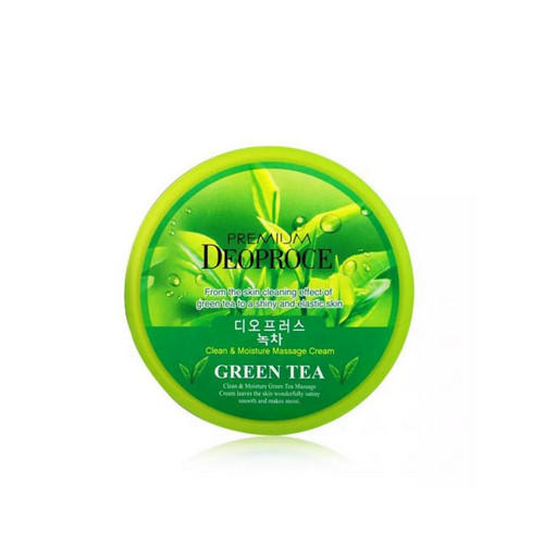 Крем массажный CLEAN MOISTURE GREEN TEA 300г (Deoproce, PREMIUM) deoproce premium clean moisture strawberry yogurt massage cream крем массажный с экстрактом клубники 300 г page 5