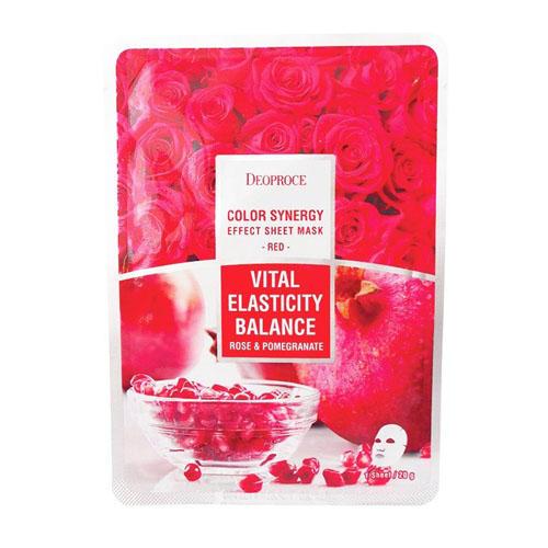 Тканевая маска на основе гиалуроновой кислоты с экстрактом граната и лепестков роз 20 г (Для лица)