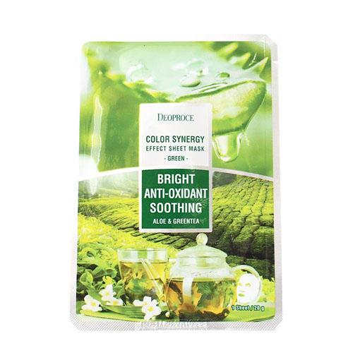 Тканевая маска на основе экстрактов алоэ и зеленого чая 20 г (Для лица)