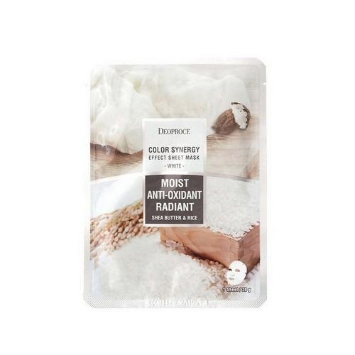 Маска тканевая на основе масла ши и рисовой воды Color Synergy 20 гр (Deoproce, SHEET) цены