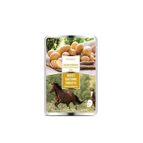 Маска тканевая с конским жиром и экстрактом картофеля Color Synergy 20 г (Deoproce, SHEET) цены