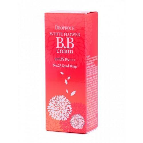 Крем ББ 23 тон WHITE FLOWER SPF35 PA 30г (Deoproce, CREAM) крем бб 23 тон white flower spf35 pa 30г deoproce cream