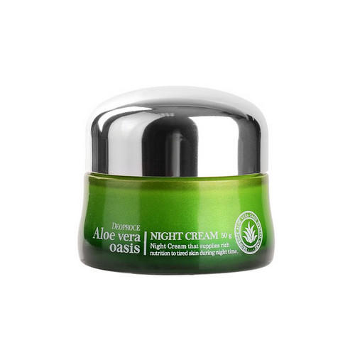 Крем ночной для лица 50 г (Deoproce, ALOE VERA) deoproce moisture silk volume honey cream крем для лица питательный на основе меда 100 г