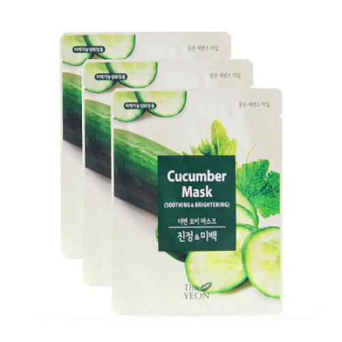 Маска для лица тканевая успокаивающая Cucumber Mask22мл (The Yeon) все цены