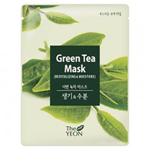 Маска для лица тканевая восстанавливающая Green Tea Mask 22мл (The Yeon) все цены
