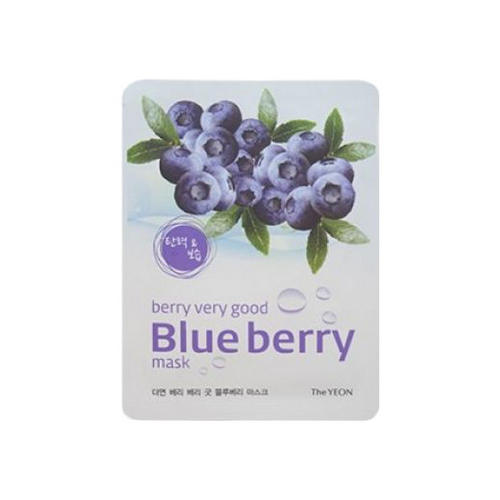 Маска для лица с экстрактом черники Berry Very Good Blue Berry Mask 22мл (The Yeon, Hallabong) фото 0
