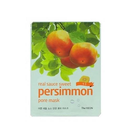 Маска для лица с экстрактом хурмы Real Sauce Sweet Persimmon Pore Mask 23мл (The Yeon, Lotus) все цены