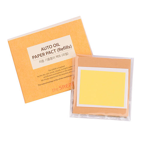 Салфетки матирующие набор Auto Oil Paper Pact Refills, 50 шт (The Saem, Аксессуары) матирующие салфетки для лица innisfree beauty tool clear oil control film