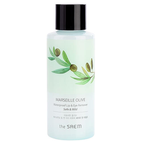 Средство для снятия макияжа Waterproof Lip Eye Remover Safe Mild, 150 мл (The Saem, Olive)