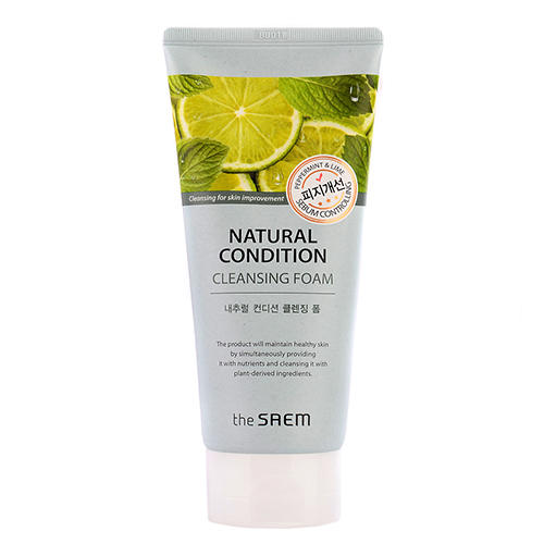 Пенка для умывания жирной кожи Cleansing Foam Sebum Controlling, 150 мл (The Saem, Natural Condition) пенка the saem natural condition cleansing foam nourishing