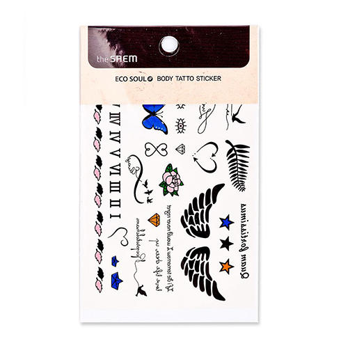 Фото - Бодиарт стикеры Eco Soul body tatoo Sticker 02. Freedom Zion (The Saem, Аксессуары) бодиарт other gold placement temporary tattoos asos