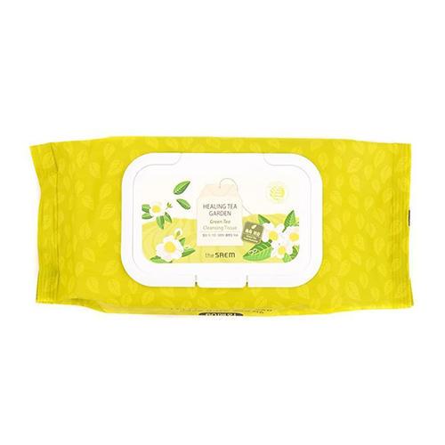 Фото - Салфетки очищающие с экстрактом зеленого чая Healing Tea Garden Green Tea Cleansing Tissue, 240 г (The Saem, Garden Pleasure) tea garden