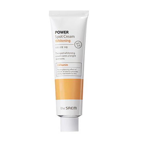Крем осветляющий Cream Whitening, 35 мл (The Saem, Power Spot) крем для лица защитный 50 г the saem