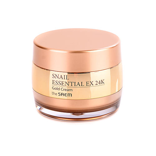 Крем для лица улиточный с золотом 24K Gold Cream, 50 мл (The Saem, Snail Essential) крем для лица защитный 50 г the saem