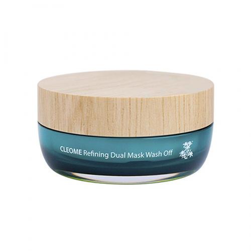 Маска для лица с экстрактом клеомы двухкомпанентная Refining Dual Mask Wash Off, 50 мл (The Saem, Cleome)