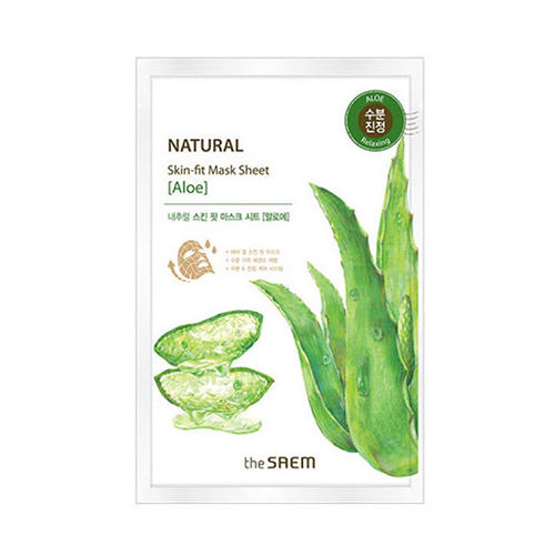 Маска тканевая алоэ Natural Skin Fit Mask Sheet Aloe, 20 мл (The Saem, Natural Skin Fit) оплетка skyway s01102278