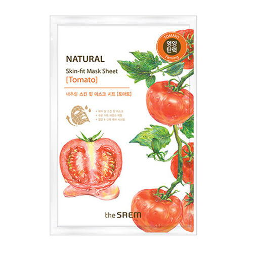 Маска тканевая томат Natural Skin Fit Mask Sheet Tomato, 20 мл (The Saem, Natural Skin Fit)