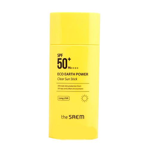 Стик солнцезащитный SPF50 Eco Earth Power Clear Sun Stick SPF50 PA, 16 г (The Saem, Sun) спрей the saem power uv protection sun spray spf50 pa 120 мл