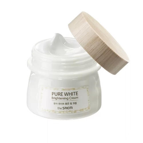 Крем осветляющий с эффектом сияния Pure White Brightening Cream, 80 мл (The Saem, Pure)
