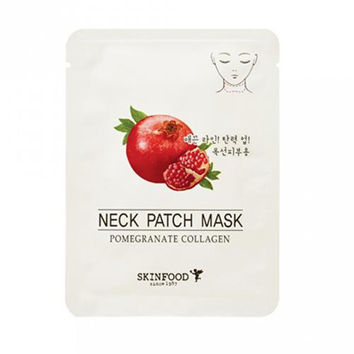 Маска для шеи антивозрастная Pomegranate Collagen Neck Patch Mask, 10 г (Skinfood, Для лица)