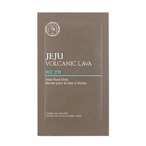 Патчи от черных точек с экстрактом алоэ Jeju Volcanic Lava Aloe Nose Strip 1 шт (The Face Shop, Jeju) маска для очищения пор the face shop jeju volcanic lava pore mud pack
