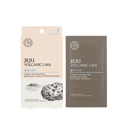 Полоски для носа очищающие Jeju Volcanic Lava Pore Clear Nose Strip 1 шт (The Face Shop, Jeju) маска для очищения пор the face shop jeju volcanic lava pore mud pack