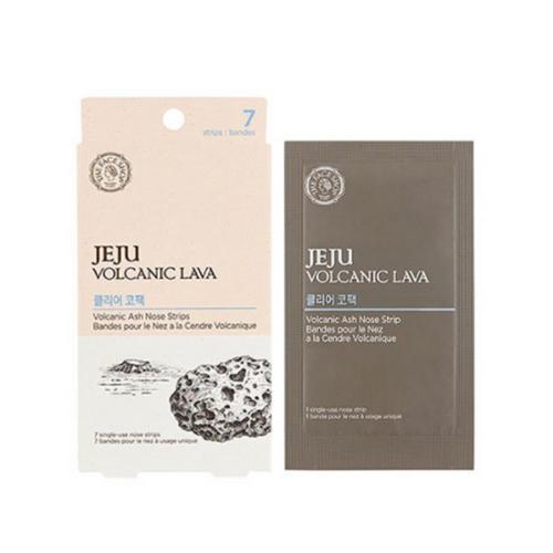 Полоски для носа очищающие Jeju Volcanic Lava Pore Clear Nose Strip 1шт (The Face Shop, Jeju) маска для очищения пор the face shop jeju volcanic lava pore mud pack