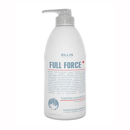 цена на Ollin Professional Тонизирующий шампунь с экстрактом пурпурного женьшеня, 750 мл (Ollin Professional, Full Force)