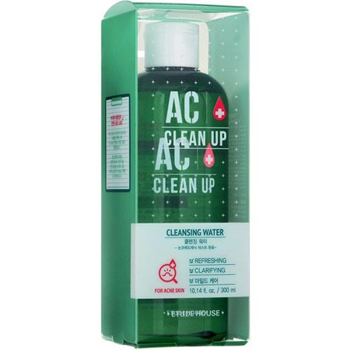 Очищающая вода для проблемной кожи AC Clean Up Cleansing Water, 300 мл (Etude House, Ac Clean Up) масла для проблемной кожи питание