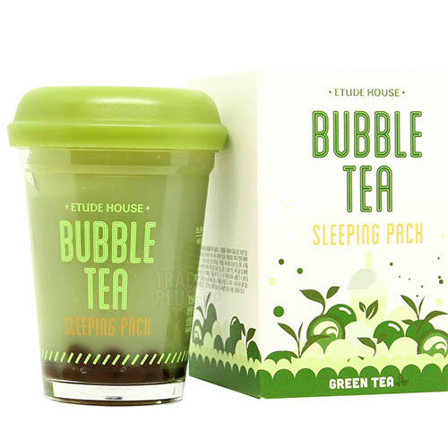 Маска ночная для лица с экстрактом зеленого чая Bubble Tea Sleeping Pack Green Tea, 100 г (Etude House, Bubble Tea) [grandness] 2010 yr fuhai tea factory 7546 raw pu erh cake shen puer tea 357g fu hai puer green tea 357g pu erh green
