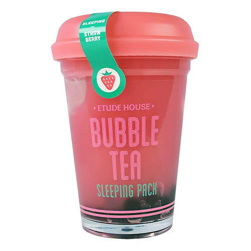 Маска ночная для лица с экстрактом клубники Bubble Tea Sleeping Pack Strawberry, 100 г (Etude House, Tea)