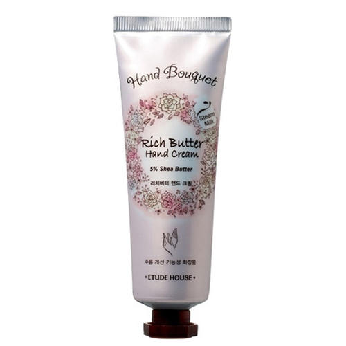 Крем для рук питательный Hand Bouquet Rich Butter Hand Cream, 50 мл (Etude House, Hand bouguet) цена